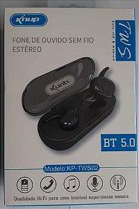 FONE DE OUVIDO BLUETOOTH TWS02 - KP-TWS02
