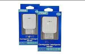 FONTE CARREGADOR INTELIGENTE INOVA PRIME 4.8A 2 USB CAR-8561