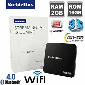 SMART TV BOX STRIDE BOX 2GB RAM 16 GB ROM ROCKSHIP ANDROID 7 BLUETOOTH
