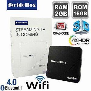 SMART TV BOX STRIDE BOX 2GB RAM 16 GB ROM ROCKSHIP ANDROID 7 BLUETOOTH