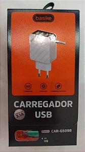 CARREGADOR TURBO V8 BASIKE 5V 3.1A CAR-G5098