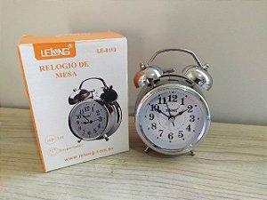 RELOGIO DE MESA DESPERTADOR LELONG LE-8119