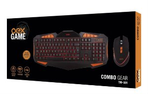 KIT TECLADO COMBO GEAR USB OEX GAME TM301