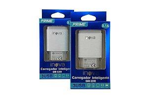 FONTE INTELIGENTE 3 USB 5.1A INOVA PRIME CAR-5201
