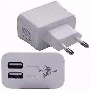 FONTE CARREGADOR FEITUN 5V 3.1A COM 2 USB BY-020