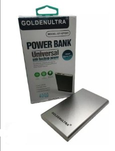 POWER BANK UNIVERSAL 4000 MAH SLIM HIGH QUALITY GOLDEN ULTRA GT-CPO01