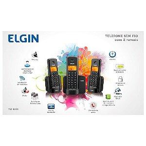 TELEFONE SEM FIO COM 2 RAMAIS ELGIN TSF8003