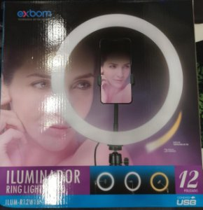RING LIGHT 12 POLEGADAS COM TRIPE DE 1.8M EXBOM R12W16