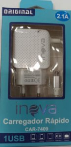 CARREGADOR INTELIGENTE INOVA V8 2.1A 1 USB CAR-7409