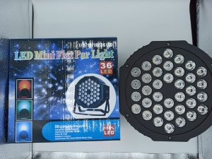 LED MINI FLAT PAR LIGHT 7 LEDS HL-36P