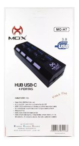HUB USB 4 PORTAS COM FONTE USB 3.0 MOX MO-H7