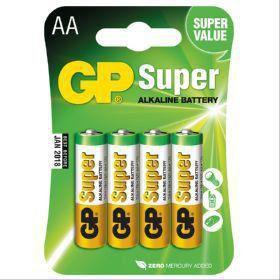 PILHA ALCALINA TAM AA PACK C/4 GP SUPER GP15A-2UE4