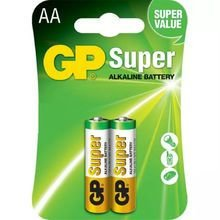 PILHA ALCALINA TAM AA PACK C/2 GP SUPER GP15A-2U2