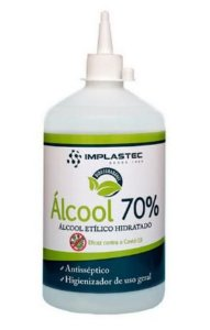 ALCOOL ETILICO HIDRATADO 70% 500ML