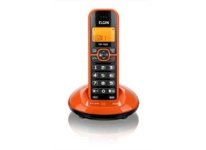 TELEFONE SEM FIO LARANJA C/ IDENTIFICADOR DE CHAMADAS E VIVA VOZ ELGIN TSF-7600