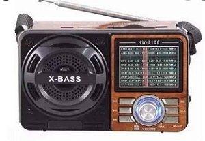CAIXA DE SOM RADIO USB MP3 TF AUX GOLDENULTRA GT-1088