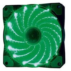COOLER FAN 120MM 15 LEDS VERDE 1200RPM OEX GAME F20