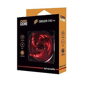 COOLER FAN 120MM 4 LEDS VERMELHO 1000RPM OEX GAME F10
