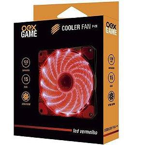 COOLER FAN 120MM 16 LEDS VERMELHO 1200RPM OEX GAME F20