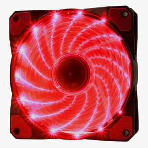 COOLER FAN 120MM 16 LEDS VERMELHO 1200RPM OEX GAME F20