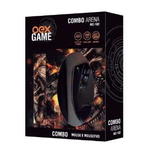 COMBO ARENA MOUSE E MOUSEPAD USB OEX MC102