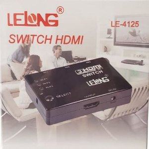 SWITCH HDMI 3X1 1080P LELONG LE-4125