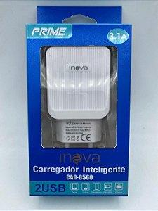 FONTE CARREGADOR INTELIGENTE INOVA PRIME 3.1A 2 USB CAR-8560