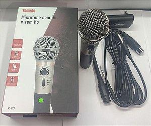 MICROFONE PROFISSIONAL COM FIO E SEM FIO TOMATE MT-1007