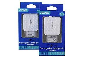 FONTE CARREGADOR INTELIGENTE INOVA PRIME 5.1A 3 USB CAR-8559