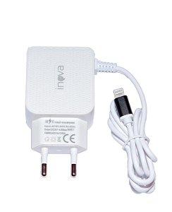 CARREGADOR INTELIGENTE INOVA LIGHTNING 4.8A 2 USB CAR-9009IP