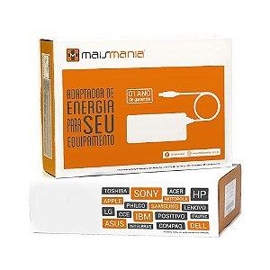 FONTE PARA NOTEBOOK MAISMANIA 19V 2.1A COMPATIVEL SAMSUNG N NC NP XT GT LT E GX SERIES MM788
