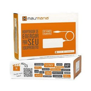 FONTE PARA NOTEBOOK MAISMANIA 19V 3.42A COMPATIVEL ACER MM688