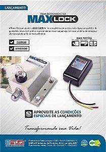TRAVA MAX LOCK COM TEMPORIZADOR ELETROMAGNÉTICO EMPLAC F95001