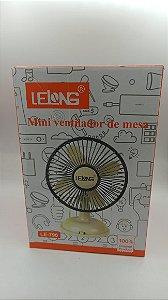 MINI VENTILADOR DE MESA RECARREGAVEL DC LELONG LE-796