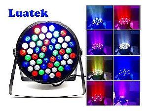 CANHÃO DE LED PARA FESTA 54 LED RGBW RITMO DA MUSICA LUATEK LK-154B
