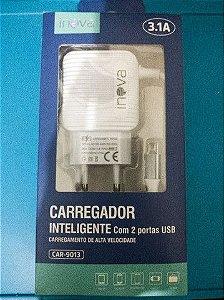 CARREGADOR INTELIGENTE INOVA V8 3.1A 2 USB CAR-9013