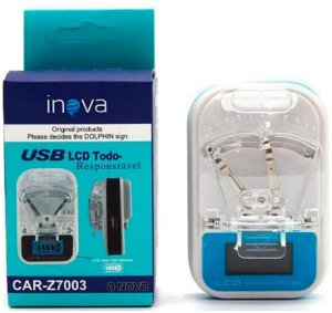 CARREGADOR UNIVERSAL LCD P/ CELULAR INOVA CAR-Z7003