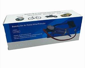 BOMBA DE AR PEDAL ALTA PRESSÃO IT BLUE LE-955