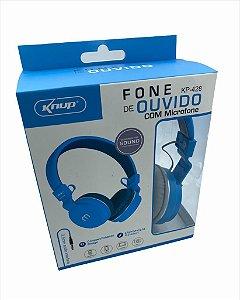 FONE DE OUVIDO COM MICROFONE P2 KNUP KP-428
