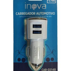 FONTE CARREGADOR AUTOMOTIVO 3.4A 2USB INOVA CAR-G5148