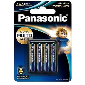 PILHA ALCALINA PREMIUM PANASONIC AAA LR03EGR/4B
