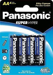 PILHA ZINCO-CARBON PANASONIC SUPER HYPER AA UM-3SHS