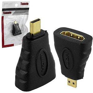 ADAPTADOR HDMI FEMEA PARA MICRO HDMI TOMATE MHC-5205