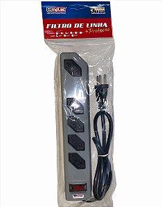 FILTRO DE LINHA 5 TOMADAS 3 PINOS REARME MAXIMUS 1MT EMPLAC F50160