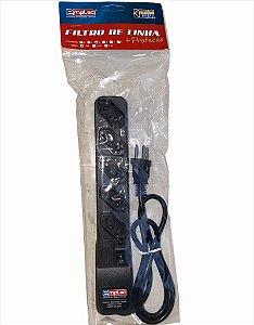 FILTRO DE LINHA 5 TOMADAS 3 PINOS SUPER PREMIUM 1MT EMPLAC F50176