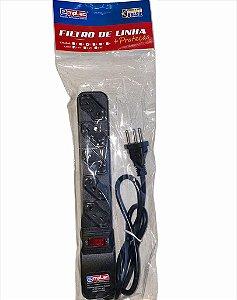 FILTRO DE LINHA 5 TOMADAS 3 PINOS REARME PREMIUM 1MT EMPLAC F50206