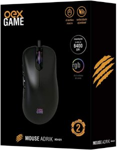 MOUSE 6 BOTÕES 6400 DPI ADRIK USB OEX GAME MS321