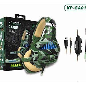 HEADSET GAMER 1 P2(F) X 2 P2(M) USB 2.0M KNUP KP-GA01