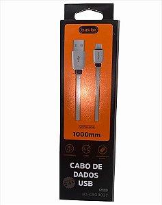 CABO DE DADOS 1M TYPE-C 2.4A BASIKE CBO-0037