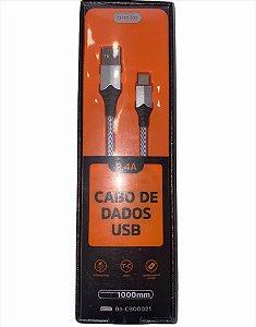 CABO DE DADOS 1M TYPE-C 2.4A BASIKE BA-CBO0021